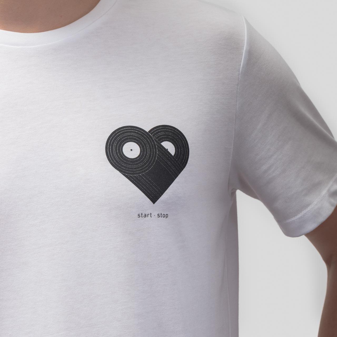 7bda8a62a53a Technics Black Heart T-Shirt - White